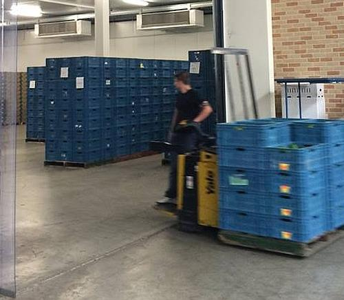 Snelle logistiek door optimale klimaatscheiding in deuropening